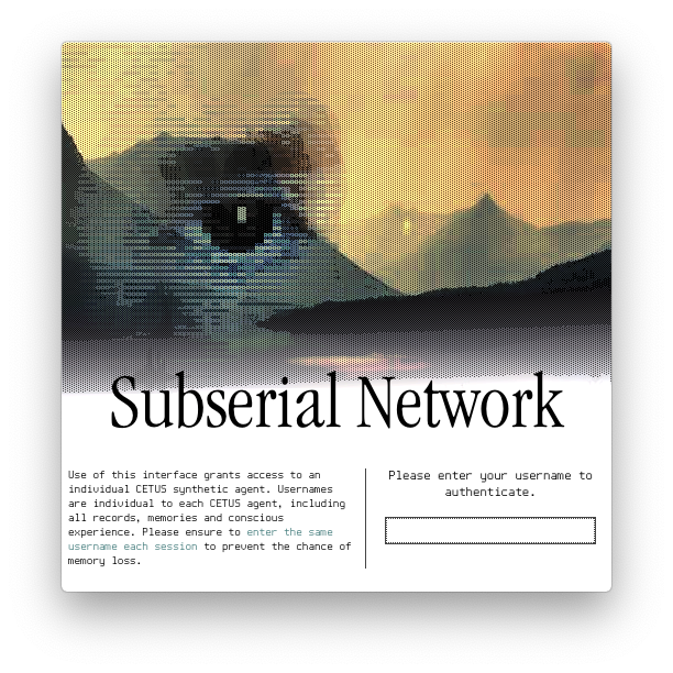 Subserial Network Splash Screen