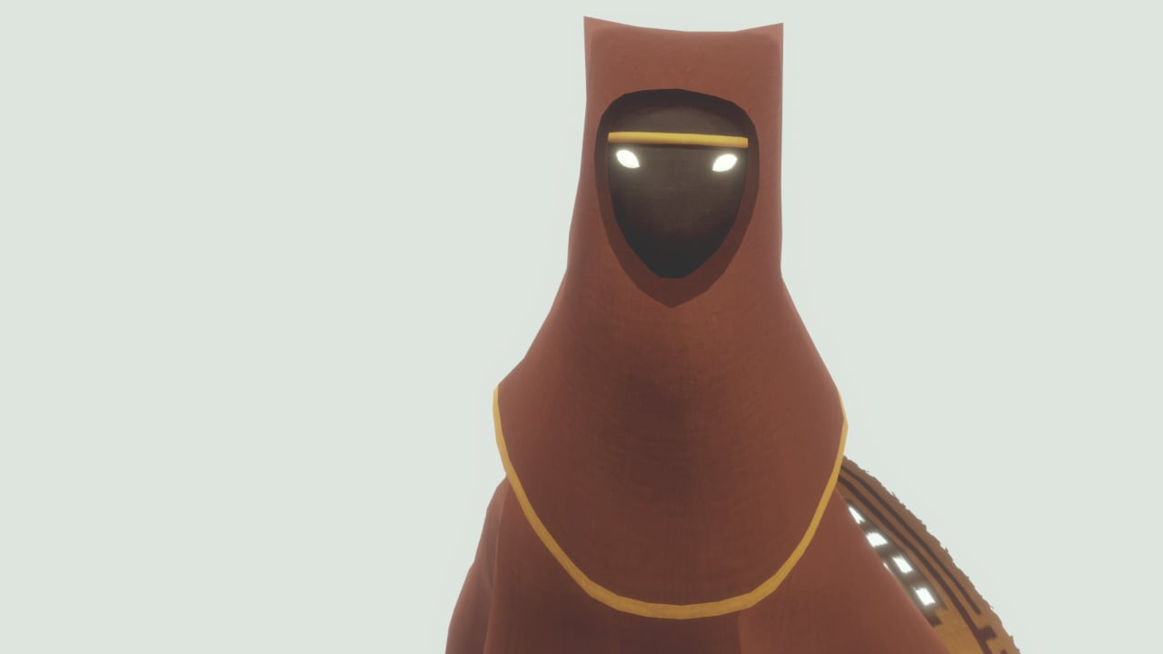 The red-robed desert wanderer in Journey.