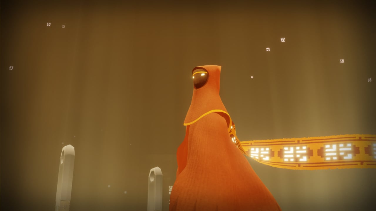 The red-robed traveller, during a cutscene in Journey.