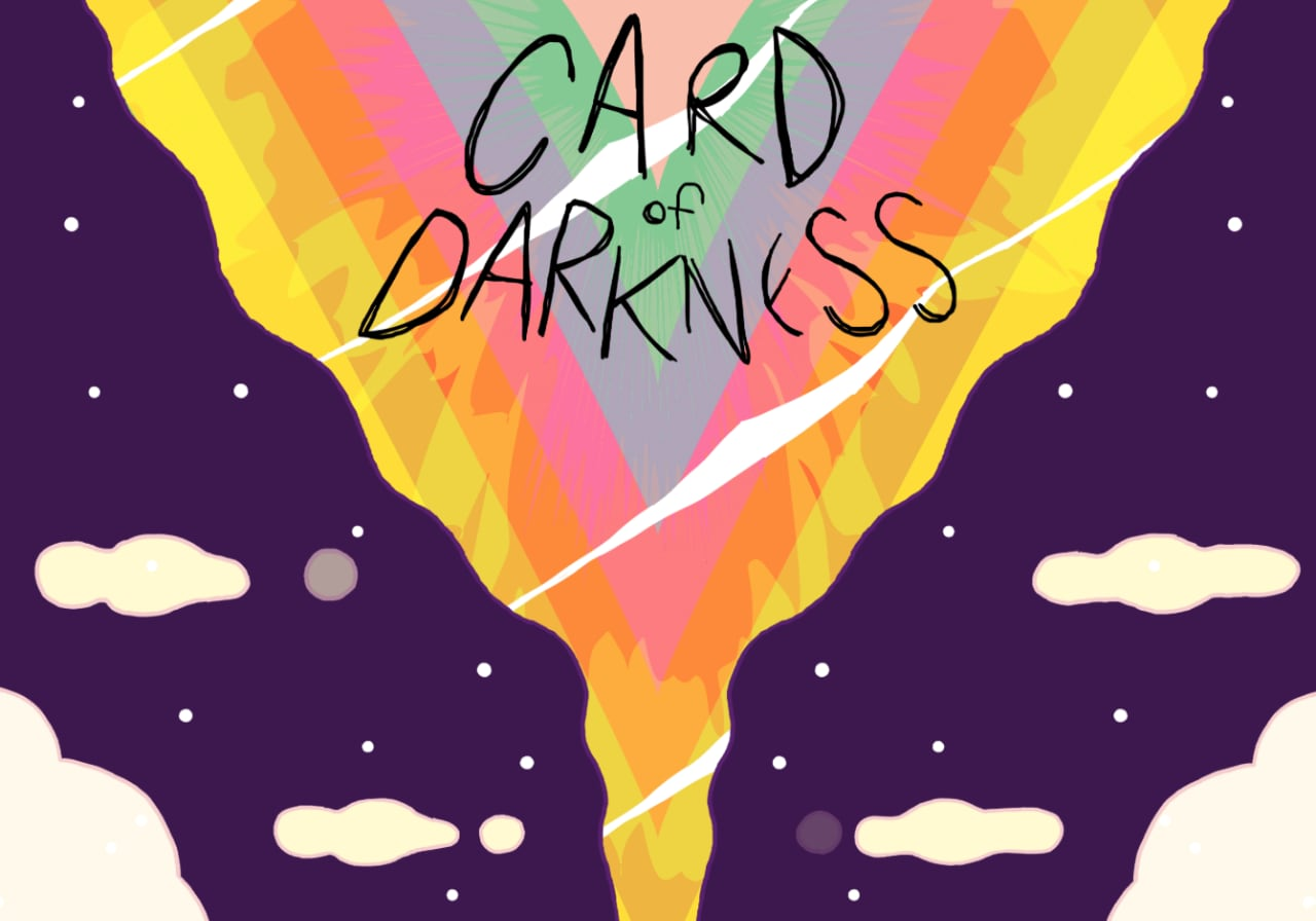 The Title Screen of Card of Darkness by Zach Gage