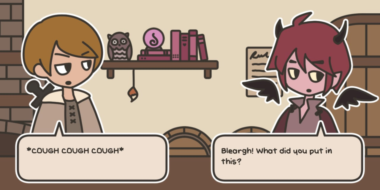 Shared Dialogue with The Adventurer and Horns in A Tavern for Tea